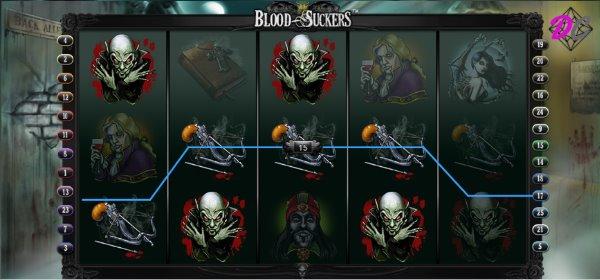 Blood Suckers Gewinn auf Linie 17