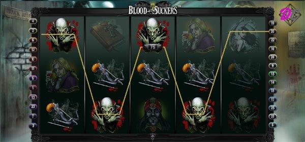 Blood Suckers Gewinn auf Linie 20
