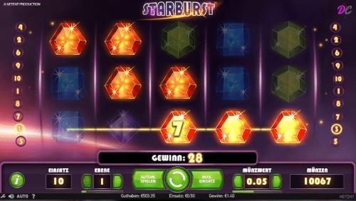 """Starburst Gewinn """"Both-Ways"""""""